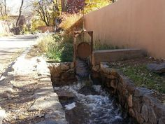 Walking along Acequia Madre in Santa Fe on a lovely fall day.