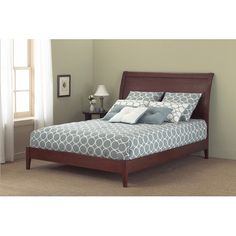 $616  COMES IN BLACK WOOD BED.  WILL ACCOMMODATE BOX MATTRESS OR CAN BE USED AS PLATFORM