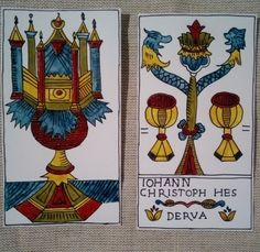 Hes - Derua Tarot, Ace of Cups, Two of Cups