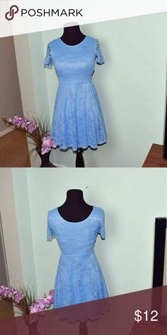 Gorgeous Powder Blue Lace Dress In excellent condition. Super cute and has an awesome Cinderella vibe to it. Dresses Mini