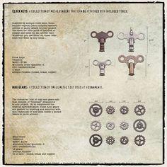 Tim Holtz / Idea-ology - Clock Keys & Mini Gears - CHA Winter 2012