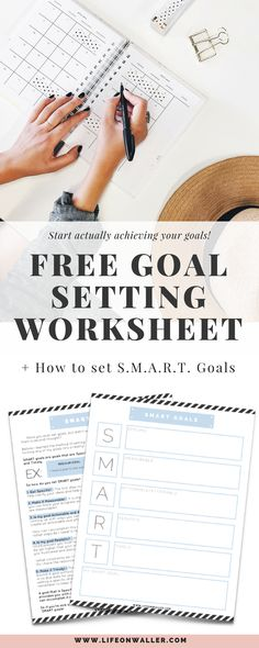 Make 2018 the year you actually accomplish the goals you write down. Learn how to make SMART goals and promote success! This free printable goal setting worksheet is so easy to use and makes my goals even better than they were before! I love to use this worksheet to set my better goals and get the ball rolling. This SMART goals worksheet is perfect for all my new year resolutions!