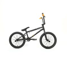 """KHE Bikes Root 360 18 Freestyle BMX Bicycles, Black. Frame/Fork: Hi-Ten Steel frame and fork with 18.5 inch TT and tapered fork. Wheels/Tires: 18"""" x 2.0"""" tires, 14 mm cassette hub, and 36H 3/8"""" axle hub. Drivetrain: 25 Teeth Sprocket, 3 pc. 160 mm CrMo crank, Sealed mid bottom bracket. Brakes/Cockpit: Topload stem, ROOT 18"""" Hi-Ten handlebar, KHE Loyal seat/seat post combo. Includes: Affix Gyro System 2 Prism steel pegs."""