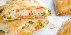 Chicken Pot Pie Hot pocket - Take the comfort food to go with this dinner pie.