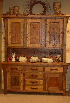 Barnwood Hutch Barnwood Hutch Item #HB03009 68.5″W x 19.5″D x 80″H Panel 3 Door – 6 Drawer – $3125 Panel 3 Door – 3 Drawer – $2895 Glass 3 D...