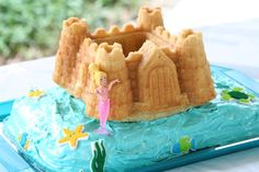 Mermaid sandcastle cake #mermaid #sandcastle #cake