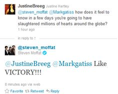 """""""MOFFAT!!! YOU TROLL!!!!"""" - MOFFAT!!  I HATE YOU RIGHT NOW!!!  You evil, twisted man. *cries*"""