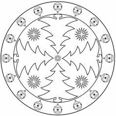 Christmas mandala coloring pages - Christmas Activities, Christmas Crafts For Kids, Christmas Colors, Christmas Projects, Christmas Fun, Mandala Coloring Pages, Colouring Pages, Christmas Templates, Christmas Printables