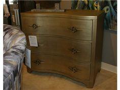 Shop For Goods Furniture Outlet   Charlotte 3 Drawer Gold Leaf Chest By  Hooker Furniture,