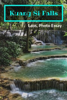 This is a waterfall not to miss in Southeast Asia. Kuang Si Falls is located outside of Luang Prabang. It should be on your list of things to do in Luang Prabang. Have a swim and take in it's beauty. #laos #southeastasia #waterfalls