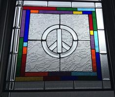 Stained Glass Rainbow Peace Sign - by Derryrush Designs