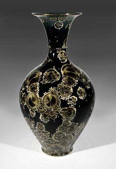 Black Crystal Glaze vase by Bill Boyd