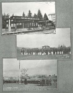 Images from around campus at the UO 1917-18.  From the 1919 Oregana (University of Oregon yearbook).  www.CampusAttic.com