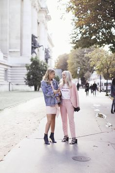 pink outfit idea fashion bloggers