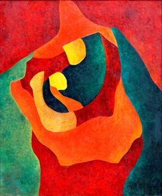 Mother and Child (1970) by Hernando Ruiz Ocampo. (http://www.artnet.com/artists/hernando-ruiz-ocampo/past-auction-results)