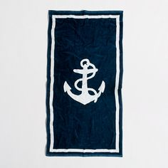 J Crew Factory large beach towel in anchor Beach Images, Beach Pictures, Merchant Marine, Discount Mens Clothing, Large Beach Towels, J Crew Style, Candid Photography, Photo Story, Bag Accessories