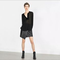 Zara Cowboy Boots, 6.5 (Size 7)