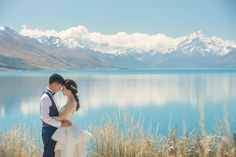 View photos in New Zealand Pre-Wedding At Lake Pukaki, Lake Tekapo And Mt. Outdoor Preweddingby Xing, wedding photographer in New Zealand. Elope Wedding, Destination Wedding, Wedding Photography Pricing, Lake Tekapo, Wedding Photoshoot, View Photos, Beautiful Day, New Zealand, Real Weddings