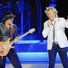 Carlos Santana and Rod Stewart UNCASVILLE _ Rod Stewart and Carlos Santana, a double bill that sold out Mohegan Sun Arena on Sunday night, might seem an odd pairing on paper, one a flamboyant pop-rocker and the other an almost...