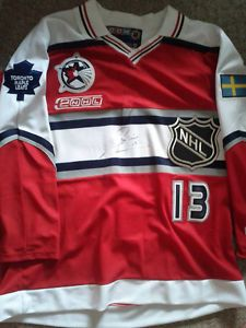 MATS SUNDIN AUTOGRAPHED ALL STAR TORONTO MAPLE LEAFS JERSEY