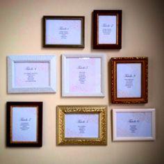 Tableau de mariage_vintage frames