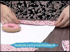 Como fazer um pano de prato decorado - parte 2 - YouTube