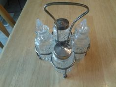 Vintage Silver Plate and Pressed Glass Salt by EastIdahoCompany, $17.99