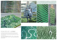 SPINEXPLORE - AW 2017 -2018 Trend fashion knitwear   Biomimicry > Earthscapes & Skies