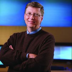 BILL GATES  The founder of Microsoft and a primary benefactor of the largest charitable foundation in the world, Bill Gates was one of the first tech visionaries. Date and photographer: Unknown.