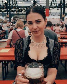 Oktoberfest Outfit, Oktoberfest Beer, German Women, German Girls, Beer Festival Outfit, Octoberfest Girls, Drindl Dress, Beer Maid, Beer Girl