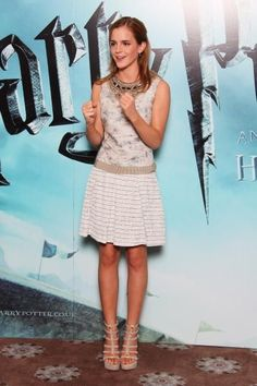 Emma Watson wore the princess dress version of your favorite sundress to her Paris movie premiere.