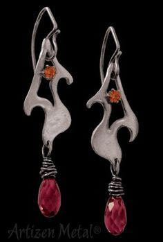 Gorgeous hand made earrings by Artizen Metal