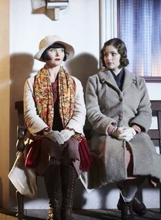 Miss Phryne Fisher (Essie Davis) and Dorothy 'Dot' Williams (Ashleigh Cummings) in 'Death On The Vine' (Series 2, Episode 10)