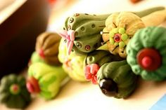 into the mind of illustrator Paula Pindroh! All artwork/photos on this site ©Paula Pindroh. Paper Clay, Paper Mache, Cactus, Gnome Garden, Clay Flowers, Outdoor Art, Cacti And Succulents, Trees To Plant, Polymer Clay