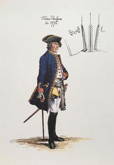 SOLDIERS- Menzel: SYW- Prussia: Plate 166. Regiment No. 4. (1806 von Kalkreuth) Offizier, by Adolph Menzel.