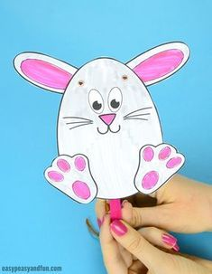 Movable Easter Bunny Puppet Craft
