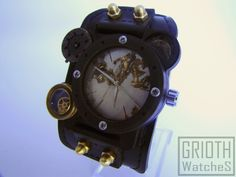 Steampunk, industrial custom watch by GRIOTH - I-RIS