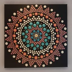 30 x 30 cm. Acrylic Painting Canvas, Decorative Plates, Dots, Hand Painted, Design, Home Decor, Mandalas, Homemade Home Decor, The Dot