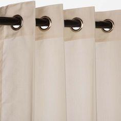 Sunbrella Curtain with Grommets Eggshell