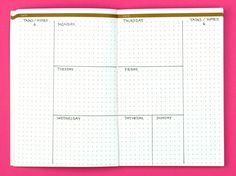 Living on the Edge; Weekly Bullet Journal Layouts | pageflutter.com