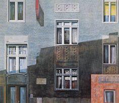 """""""RÜDIGERHOF"""" - Öl auf Holz - 130 x 150 cm Vienna, Museum, Museums"""