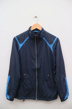 Vintage NIKE Sportswear Blue Zipper Windbreaker Size M