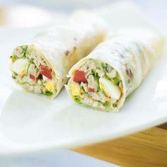 Recipe: Hard Egg Tuna Wrap and Mayonnaise - cuisine - Salad Recipes Healthy Wrap Recipes, Egg Recipes, Sandwich Recipes, Egg Ingredients, Tuna Wrap, Healthy Salad Recipes, Healthy Wraps, Vegetarian Wraps, Picnic