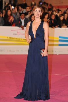 Vanessa Incontrada looked beautiful and classy in a #RobertoCavalli look at the Rome Fiction Fest in Rome!