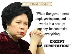 Love her or hate her, Miriam Defensor-Santiago is undoubtedly one of the wittiest Filipinos to have ever lived. Miriam Defensor Santiago, Memes Tagalog, The Iron Lady, Evil World, Political Quotes, Book Quotes, Love Her, How To Memorize Things, Funny Quotes