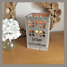 Home sweet home wood lantern