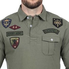 Mens Rugby Shirts, Army Shirts, Tee Shirts, Stylish Shirts, Casual Shirts, Cheap Ralph Lauren Polo, Chemise Fashion, Polo Shirt Style, Check Shirt Man