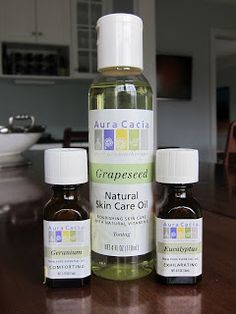 Natural Tick Repellent:   8oz bottle of Grapeseed Oil. Grapeseed is a good base because it puts a film on your skin and makes it harder for a tick to take hold. Add 30 drops of Eucalyptus Oil. Ticks hate the smell. Add 30 drops of Geranium Oil.  It is also effective at keeping mosquitos away.