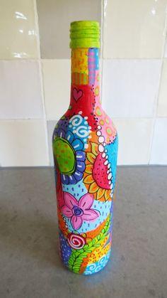 Botella pintada