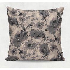 Almofada decorativa em tecido estampado - AQUA FLOWER – 45cm X 45cm